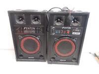 "Pair of Fenton 8"" Active Speakers"