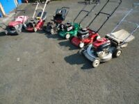Petrol lawn mowers wanted
