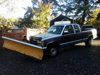 chev plow truck and salter ready to work