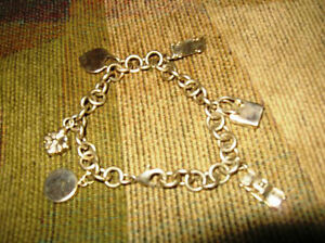 Authentic Tiffany & Co 925 Silver 6 Charms With Tiffany Bracelet