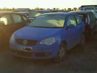 vw polo 1.2 petrol blue 3 door 2008 manual breaking for spares