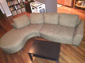 Grey Urban barn sectional couch