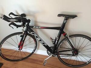 Road bike ready for racing