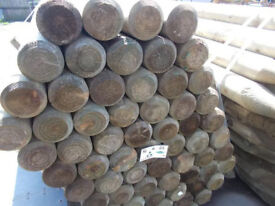 """5ft 6"""" Round Fence Posts 90mm"""