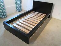 IKEA single black bed