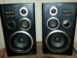 Sony SS-D117 3-Way Speakers Bookshelf 80 watts