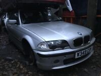 BMW 323 2000 2.5 Petrol Silver 5dr Breaking For Spares