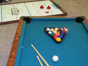 Table de jeux-hockey et billiard