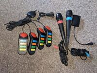 PlayStation 2/3/4 singstar microphones & ps2 buzz controller