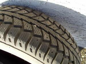 4 UNIROYAL TIGER PAW ICE SNOW 205 65 15 WINTER TIRES PNEU HIVER