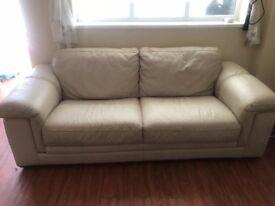 3 peice cream sofa for sale
