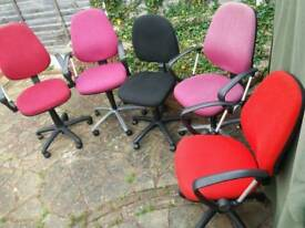 Desk CHAIRS in Different Colours