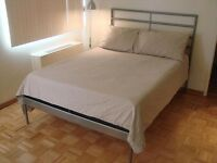 steel frame double bed, very strong bed...