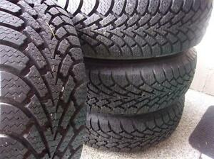 4 GOODYEAR NORDIC 195 65 15 WINTER TIRES HIVER ALMOST NEW
