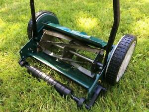 "LIKE NEW (used 3 times) 14"" Push Reel Lawn Mower (reg $130)"