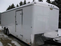 Truck & 20 Foot Enclosed Extra Height Cargo Trailer