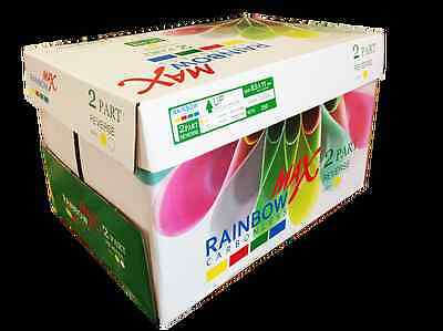 Rainbow Max NCR Carbonless Paper (2 Part) 8-1/2x11 (250 Sheets) Laser&Inkjet