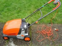 Flymo 3400 lawn rake/moss scarifier