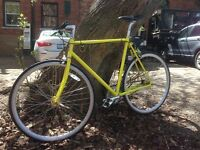 Custom-Made Light-Weight Single-Speed Size-23 Road Bike in Perfect Order