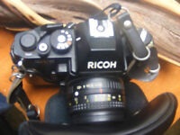 Ricoh KR-5 Camera with 52mm Vivitar 28-70mm Macro Focusing Zoom