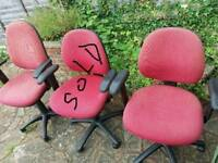 RED Desk CHAIRS