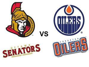 Oilers vs Senators- Loge Table