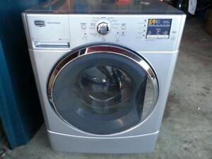 MAYTAG H.E FRONT LOAD WASHER GREY / SILVER LIKE NEW 1 YR WARR
