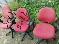 DESK CHAIR RED