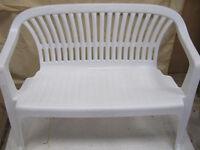 White Plastic Garden Bench 1metre 15cm