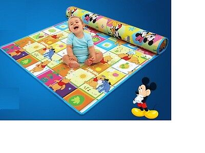 SAFE!Baby Kid Toddler Play Crawl Picnic Waterproof Mat Double Sides200*180*0.5cm