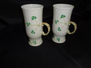 Belleek Shamrock Coffee Mugs