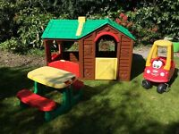 Little tikes outdoor playhouse and bench