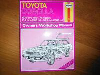 1975-1979 Toyota Corolla 1200 & 1600cc Shop Service Manual