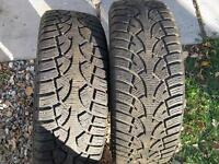 4 WINTER TIRES ON RIMS JANTES 5 HOLES 215 60 16 CAMRY 5X114.3