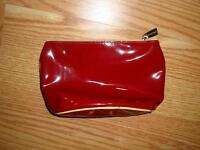 New Lancome Red Makeup Plastic Purse Case with Zipper - $0.50