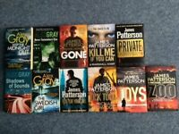 Alex Gray and James Patterson paperback books (11 books in total)