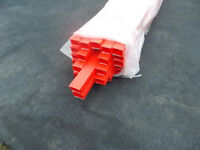 Red Electrical Cable Trunking - 25mm x 16mm x 3 metres long -with lids With self adhesive strip