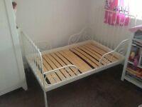 Ikea metal white children/toddler bed for sale