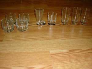 9 Like New Collectable Shot Glasses - $1 each