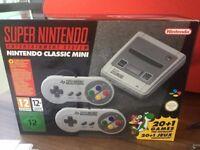 SNES Super Nintendo Mini for sale.