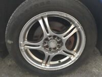 "16"" RACING SPIRIT MULTI STUD ALLOY WHEELS WITH TYRES"