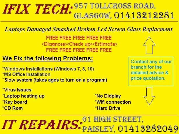 iPhone Damaged Smashed Broken Lcd Screen Glass Replacement