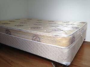 Double bed frame included