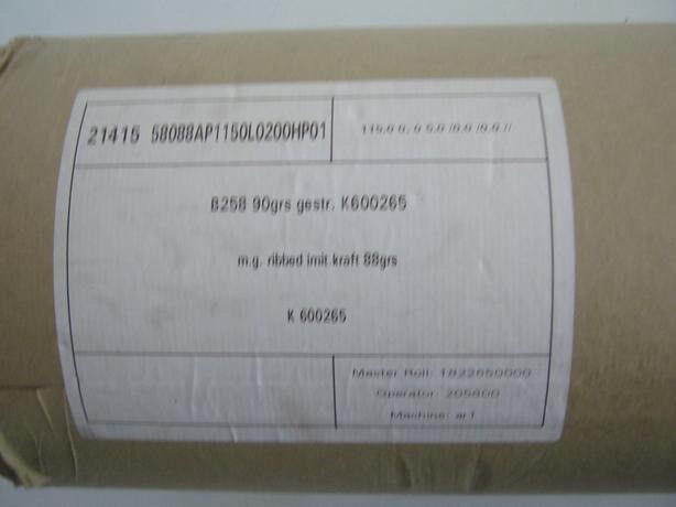 Brown Ribbed Kraft Paper Roll 200M