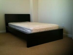 Queen size mattress, box spring, frame. Good condition