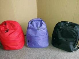 Brand New Back Pack Various Colours