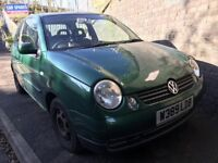 VW Lupo 2000 1.7 Diesel Green 3dr Breaking For Spares