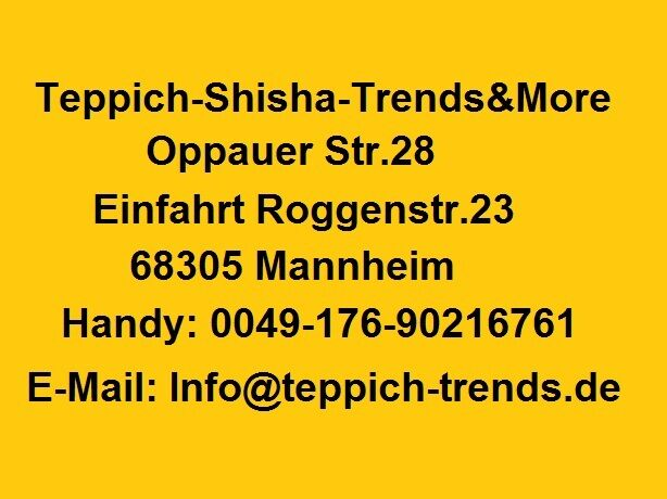 Teppich-Sisha-Trends & More