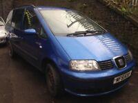 seat alhambra 2002 1.9 diesel blue - breaking for spares