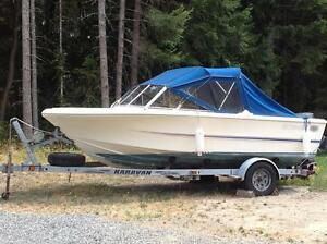 16 ft Double Eagle Fishing Boat with galvanized Trailer